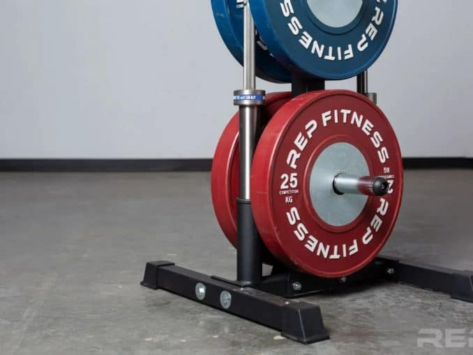 Rep Bar and Bumper Plate Tree close up bottom part