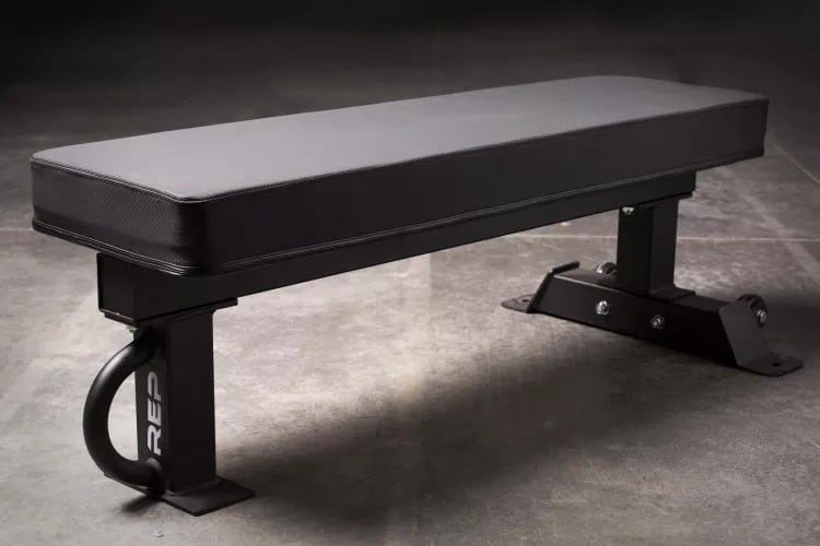 Rep FB-5000 Competition Bench - Why a 3-Post Flat Bench? Nothing in the way of your feet, at powerlifting competition spec height, and rated to 1,000 lbs at an incredible price