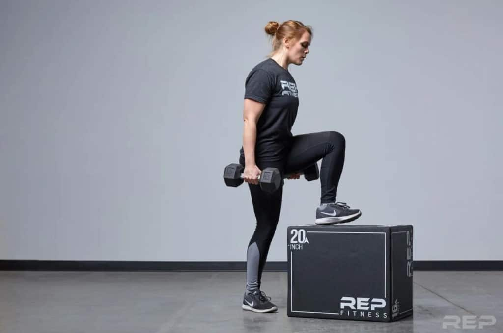 Rep Fitness 3-in-1 Soft Plyo Boxes with dumbells