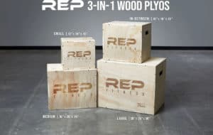 Rep Fitness 3-in-1 Wood Plyo Boxes different sizes