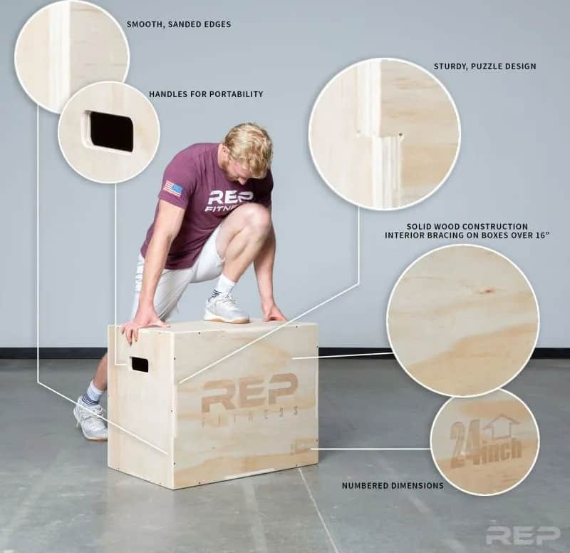 Rep Fitness 3-in-1 Wood Plyo Boxes specs