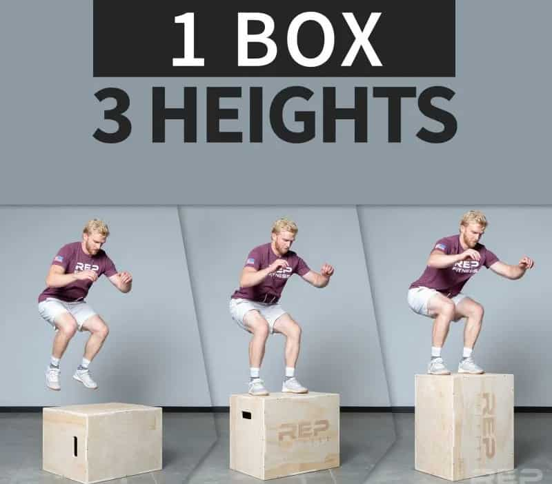 Rep Fitness 3-in-1 Wood Plyo Boxes three heights