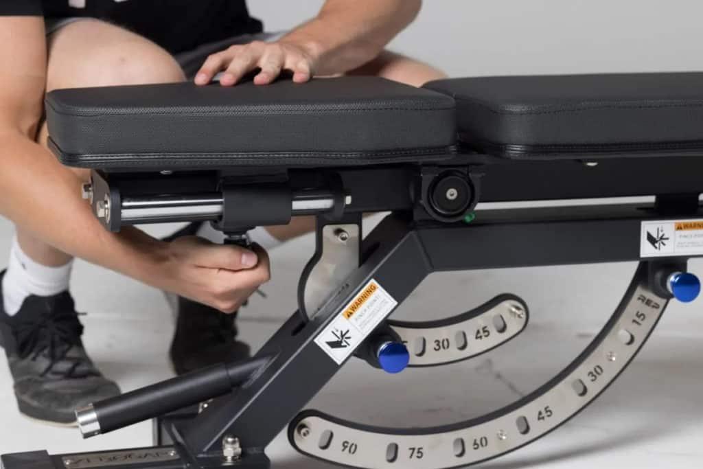 Rep Fitness AB-5000 Zero Gap Adjustable Bench Matte Black adjusting
