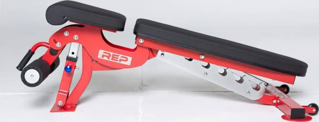 Rep Fitness AB3000 FID Adjustable Bench side view adjusted