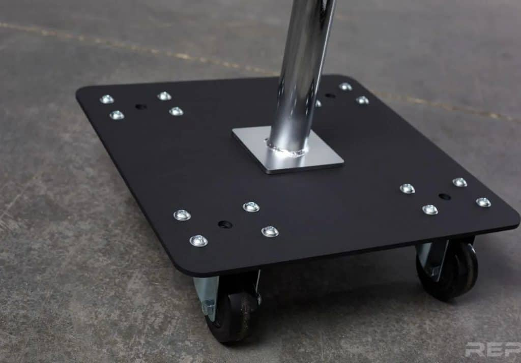 Rep Fitness Bumper Stacker With Wheels foot and wheels