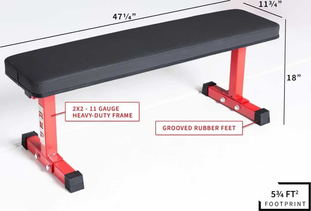 Rep Fitness FB-3000 Flat Bench dimension