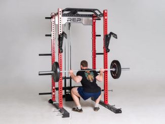 Rep Fitness Monolift Attachment full view squat back