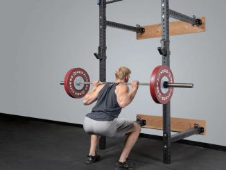 Rep Fitness PR-4100 Folding Squat Rack low back squat-crop
