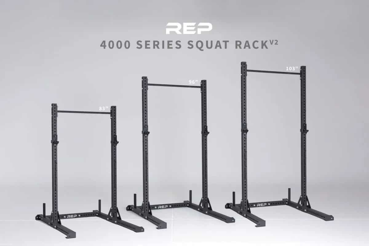 Rep Fitness SR-4000 Squat Rack different sizes