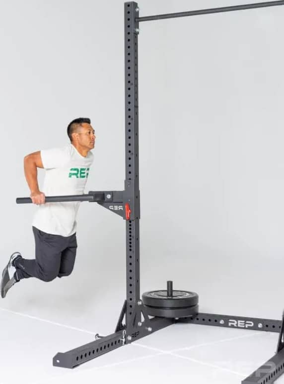 Rep Fitness SR-4000 Squat Rack half view-crop