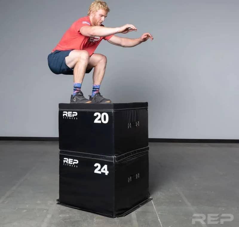 Rep Fitness Soft Foam Plyo Box box jump