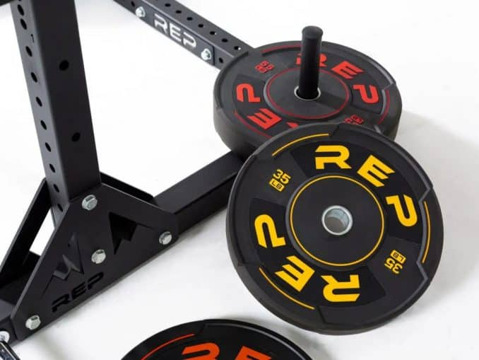 Rep Fitness Sports Plates on the bar