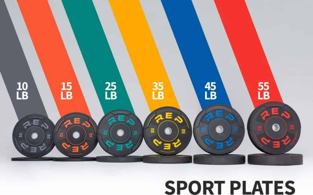 Rep Fitness Sports Plates with weight-crop
