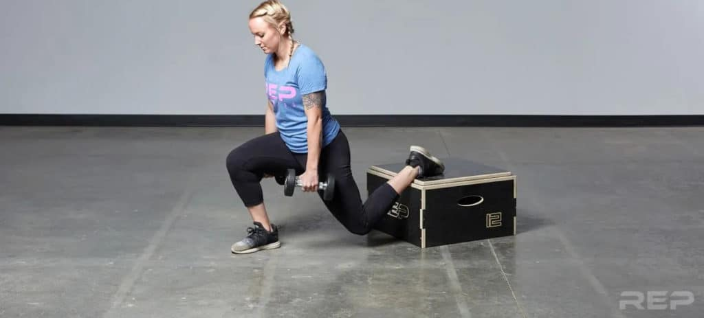 Rep Fitness Stackable Wood Plyos lunge
