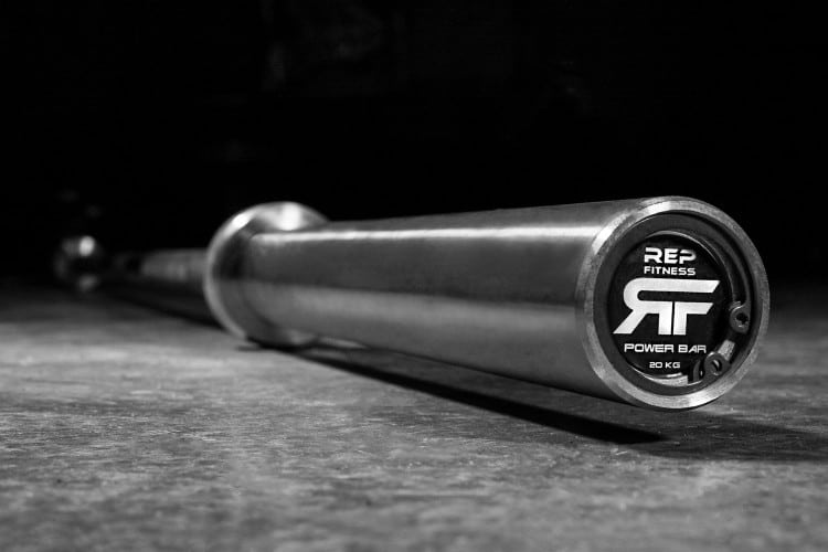 Another view of the Rep Fitness Stainless Steel Power Bar v2
