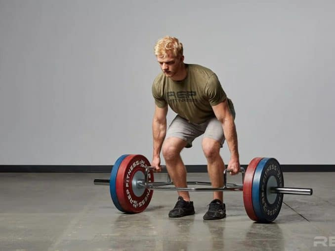 Rep Fitness Trap Bar full view lift-crop