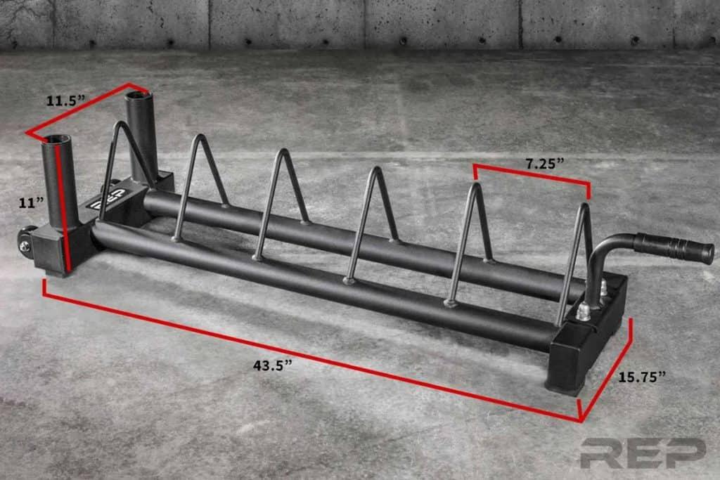 Rep Fitness V2 Horizontal Plate Rack dimension
