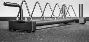 Rep Fitness V2 Horizontal Plate Rack quarter full view