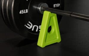 Rogue A-Jack under a barbell
