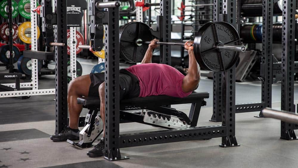 Rogue Adjustable Bench 3.0 with user 9