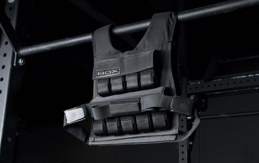 Rogue BOX Weighted Vest full size hanging