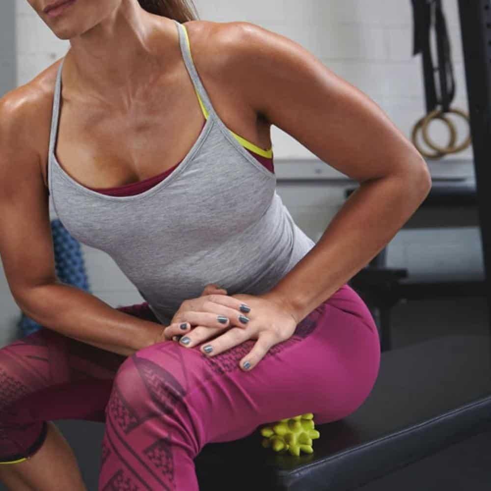 Rogue Beastie Xtra Firm Massage Ball back thigh