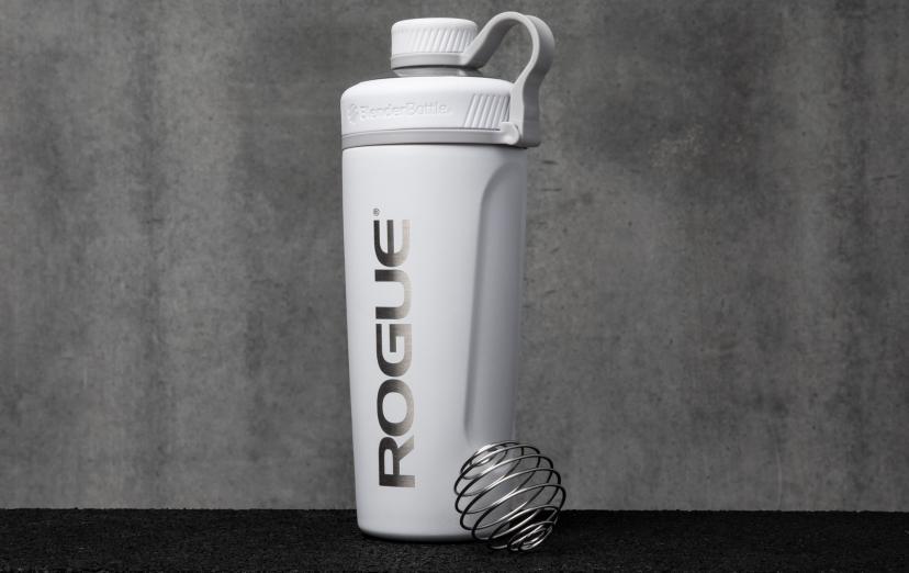 Rogue Blender Bottle Radian Insulated Stainless Steel White