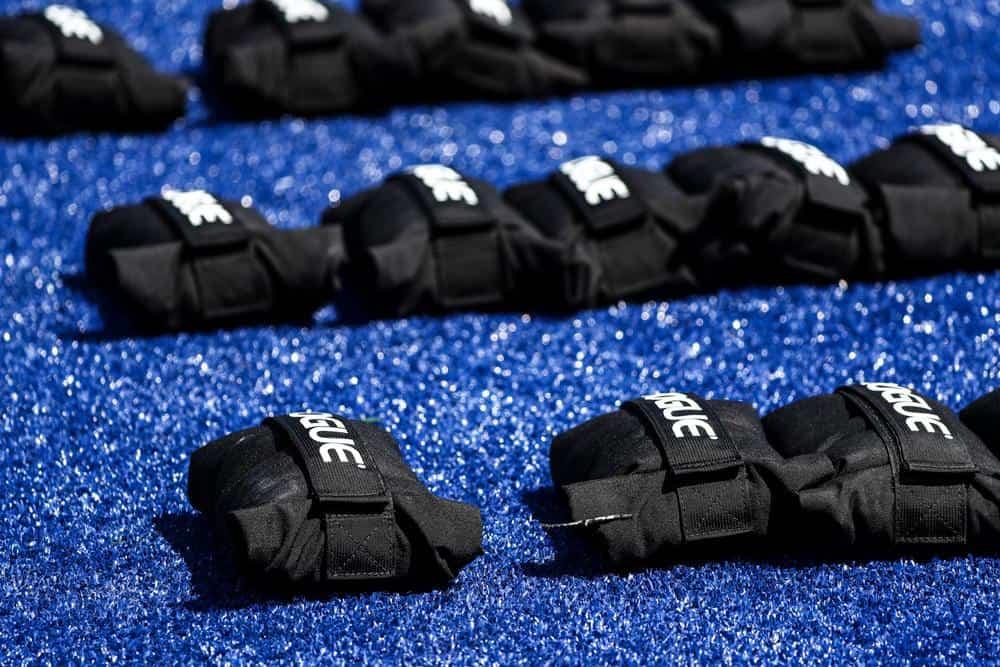 Rogue Brick Bag lined up