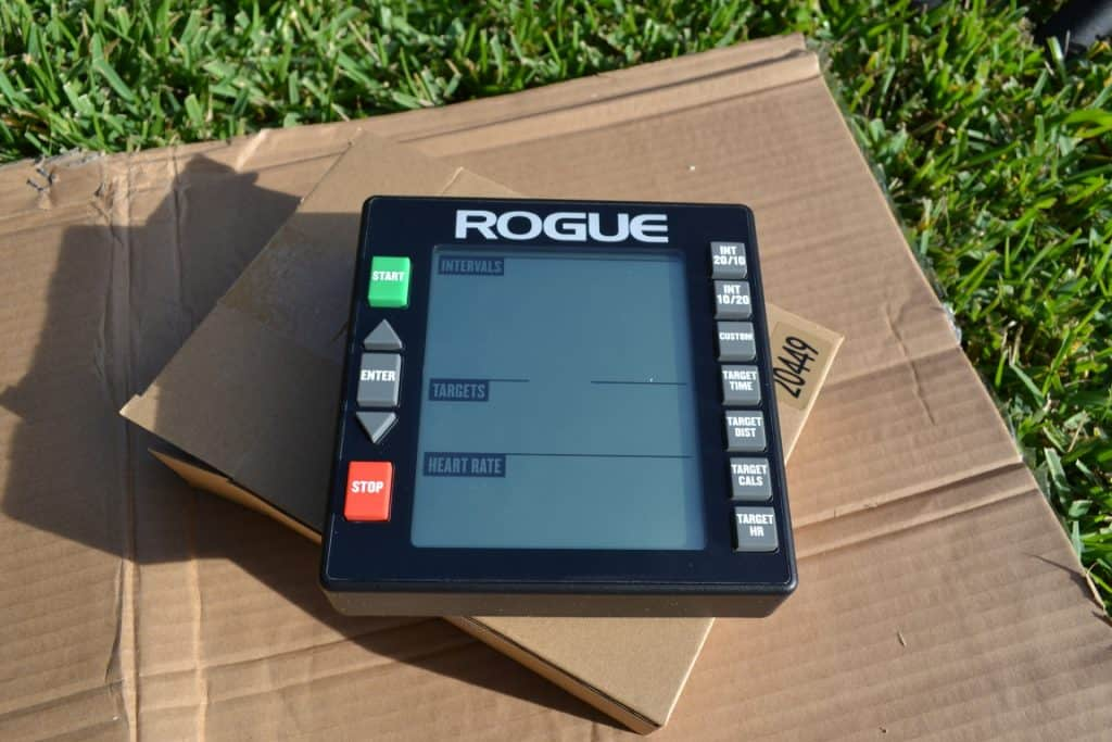 Rogue Echo Bike Console before installation - 2 AA Batteries required and included!