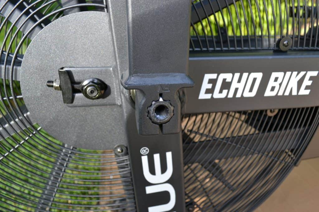 Rogue Echo Bike - Left Handle showing how things line up after installation