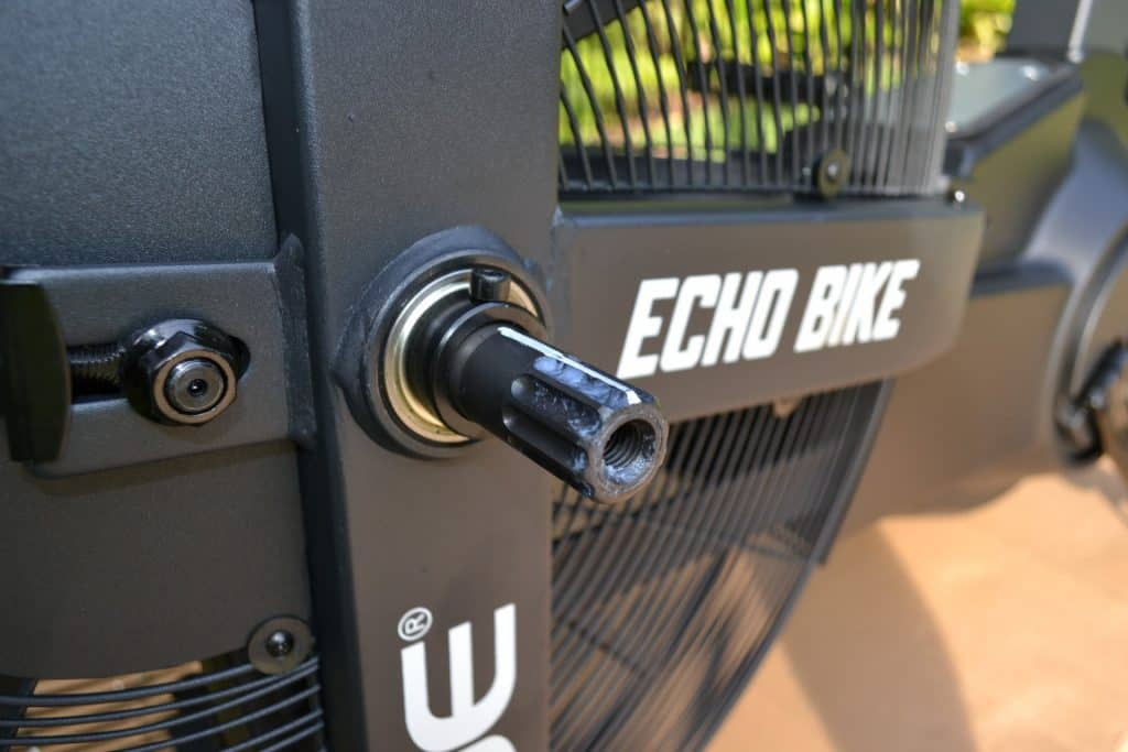 Rogue Echo Bike - Handle Installation showing where the handle will go