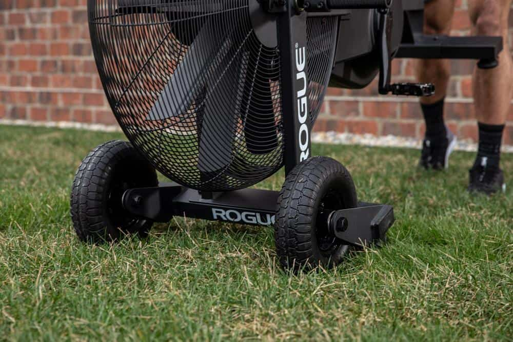 Rogue Echo Bike Turf Tire and Handle Kit wheels