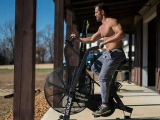 Rogue Echo Bike with a user