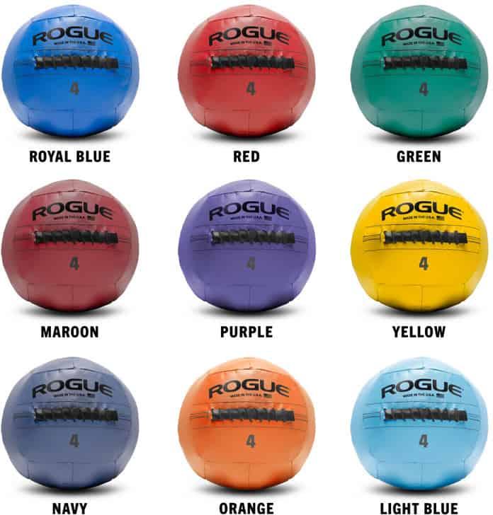 Rogue Fitness Color Medicine Balls different colors