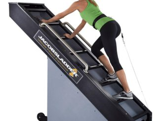 Rogue Fitness Jacobs Ladder 2 female user