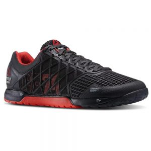 Black / Red - The Reebok CrossFit Nano 4.0 is a classic CrossFit Training shoe - DuraCage technology delivers an indestructible yet lightweight upper while RopePro protection wrap gives bite and support for rope climbs. 4mm heel to toe drop for stability.