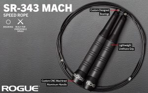 The king of speed ropes? The Rogue Fitness SR-343 Mach Speed Rope - thin, but dense cable and a custom bearing system makes this rope the fastest speed rope around.