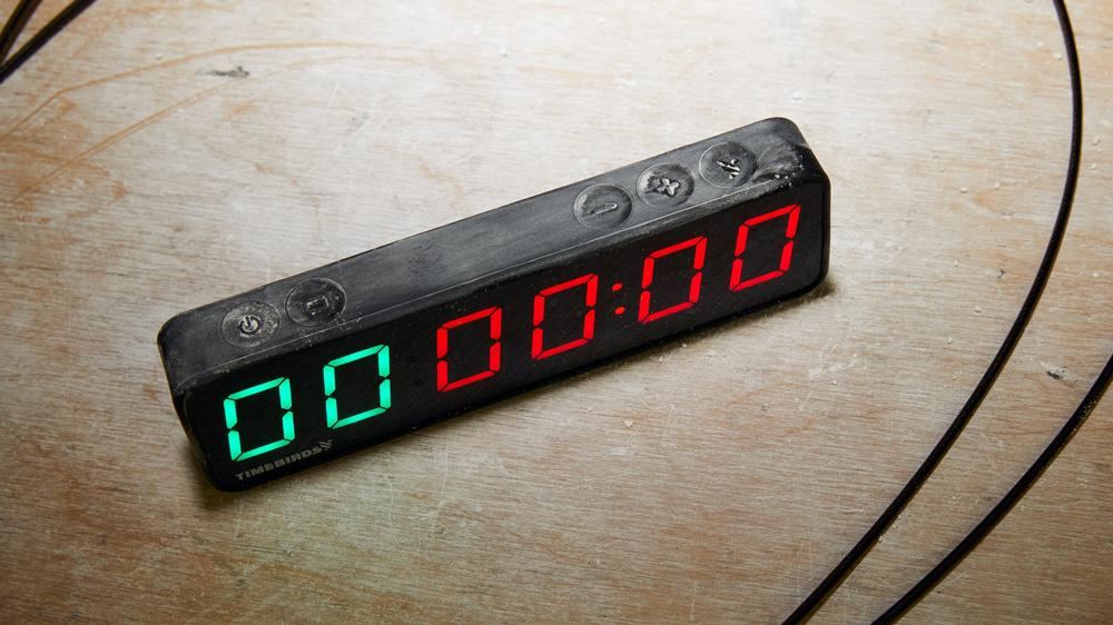 Rogue Fitness Timebirds Timer on the table