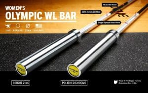 If you've been looking for a quality women's barbell that delivers the consistent whip and smooth spin necessary for serious Olympic lifting, your search ends here. The 25MM Rogue Women's Oly WL Bar is machined and assembled in Columbus, OH, utilizing the same 215,000 PSI tensile strength steel, quality needle bearings, and uniform Olympic knurling as our standard men's Olympic Weightlifting Bar.