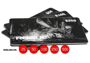 The Rogue Fitness Gift Card makes a great gift idea for any CrossFit or weightlifting enthusiast