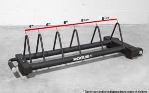 Rogue Horizontal Plate Rack 2.0 dimension