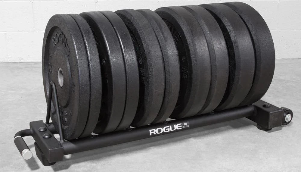 Rogue Horizontal Plate Rack 2.0 with bigger plates