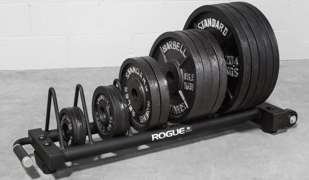 Rogue Horizontal Plate Rack 2.0 with black plates