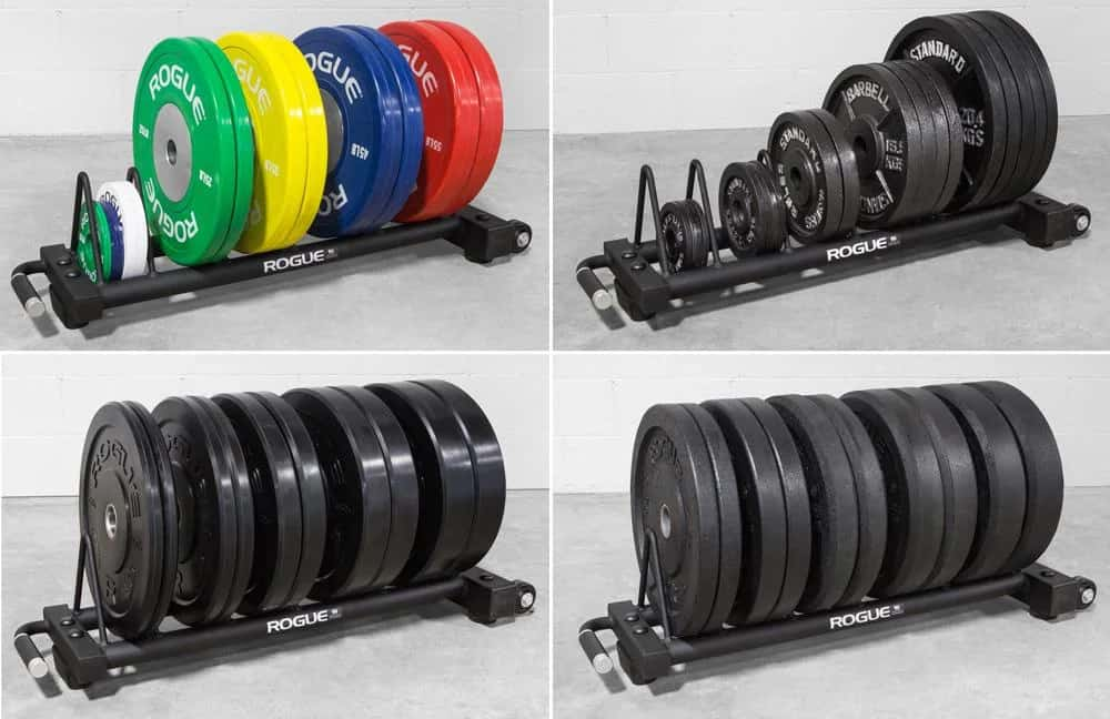 Rogue Horizontal Plate Rack 2.0 with plates