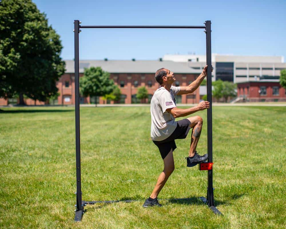 Rogue MIL Pull-up Station going up