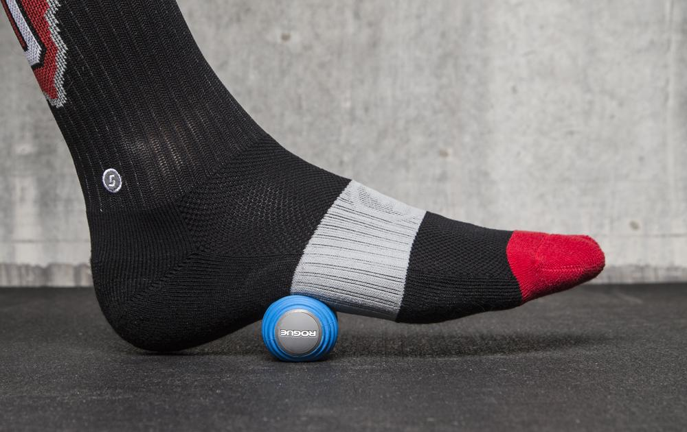 Rogue MobilityWOD Foot Roller under the foot