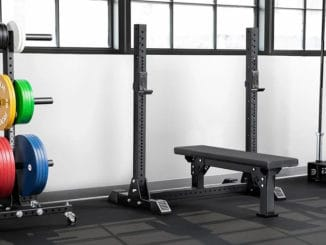 Rogue Monster Lite Competition Bench in the gym