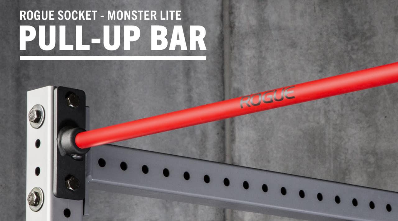 Rogue Monster Lite Socket Pull-up Bar red cerakote