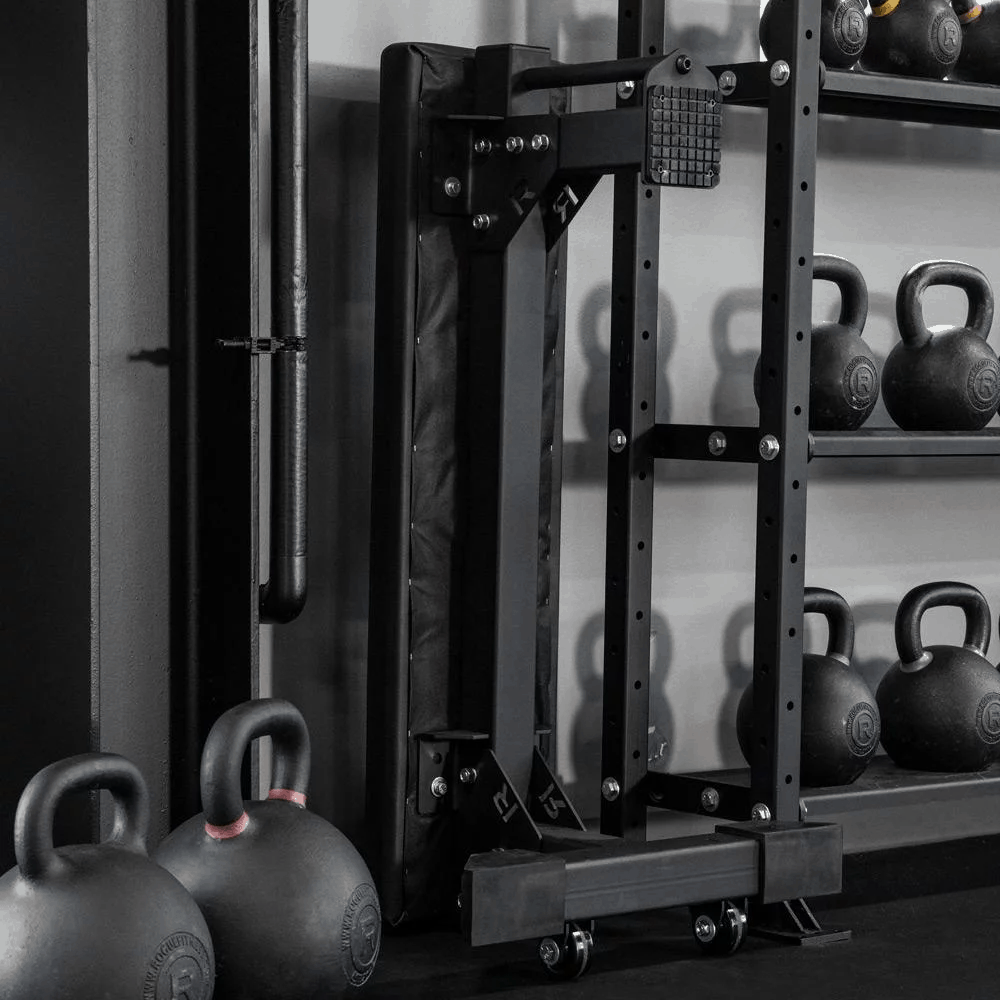Rogue Monster Utility Bench 2.0 can be stored upright (vertical)