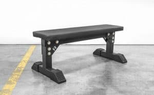 """The Monster Utility Bench is designed with an extra-wide 24"""" base and a heavy-duty 3x3"""" 11-gauge steel frame. Manufactured in Columbus, OH, each unit ships disassembled from our warehouse to reduce shipping costs, and comes with all necessary hardware for a quick set-up, including a set of rubber feet for added sturdiness on uneven surfaces. The overall footprint is 44"""" long x 24"""" wide."""